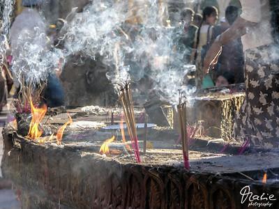 incense stick in the shwedagon-pagoda
