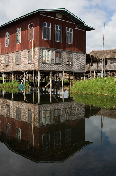 Stilt house.<br /> <br /> Location: Inle Lake, Myanmar<br /> <br /> Lens used: 24-105mm f4.0 IS