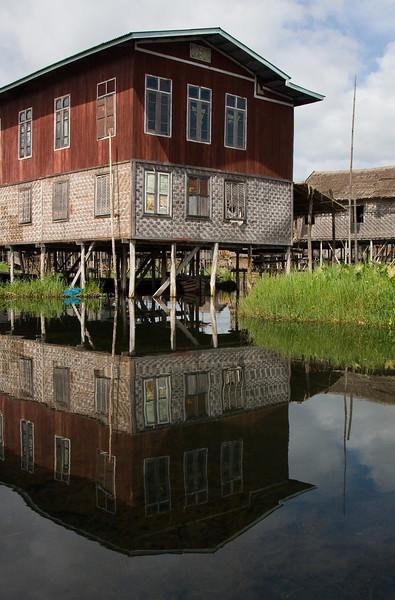 Stilt house.<br /> <br /> Location: Inle Lake, Myanmar<br /> <br /> Lens used: 24-105mm f4.0 IS