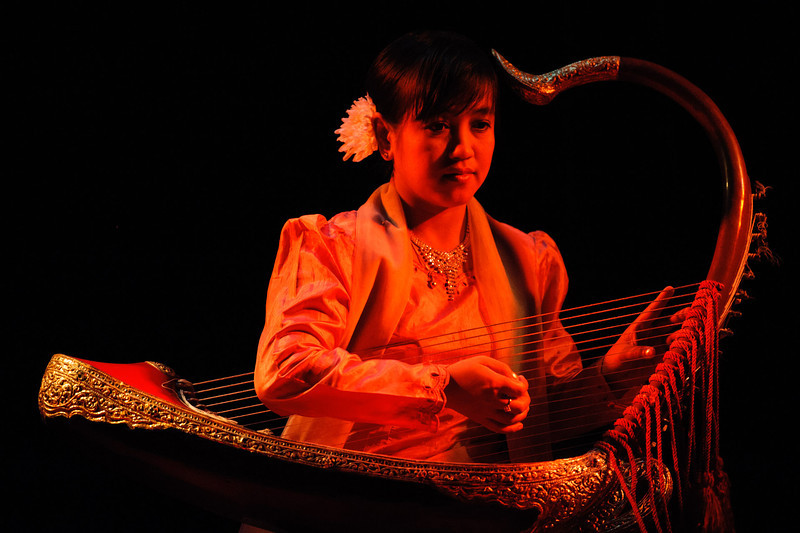 Burmese harp player