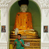 Man prays at Shwedagon Pagoda