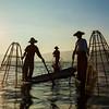 Traditional Burmese fisherman at Inle lake, Myanmar
