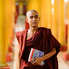 Monk walks to his class