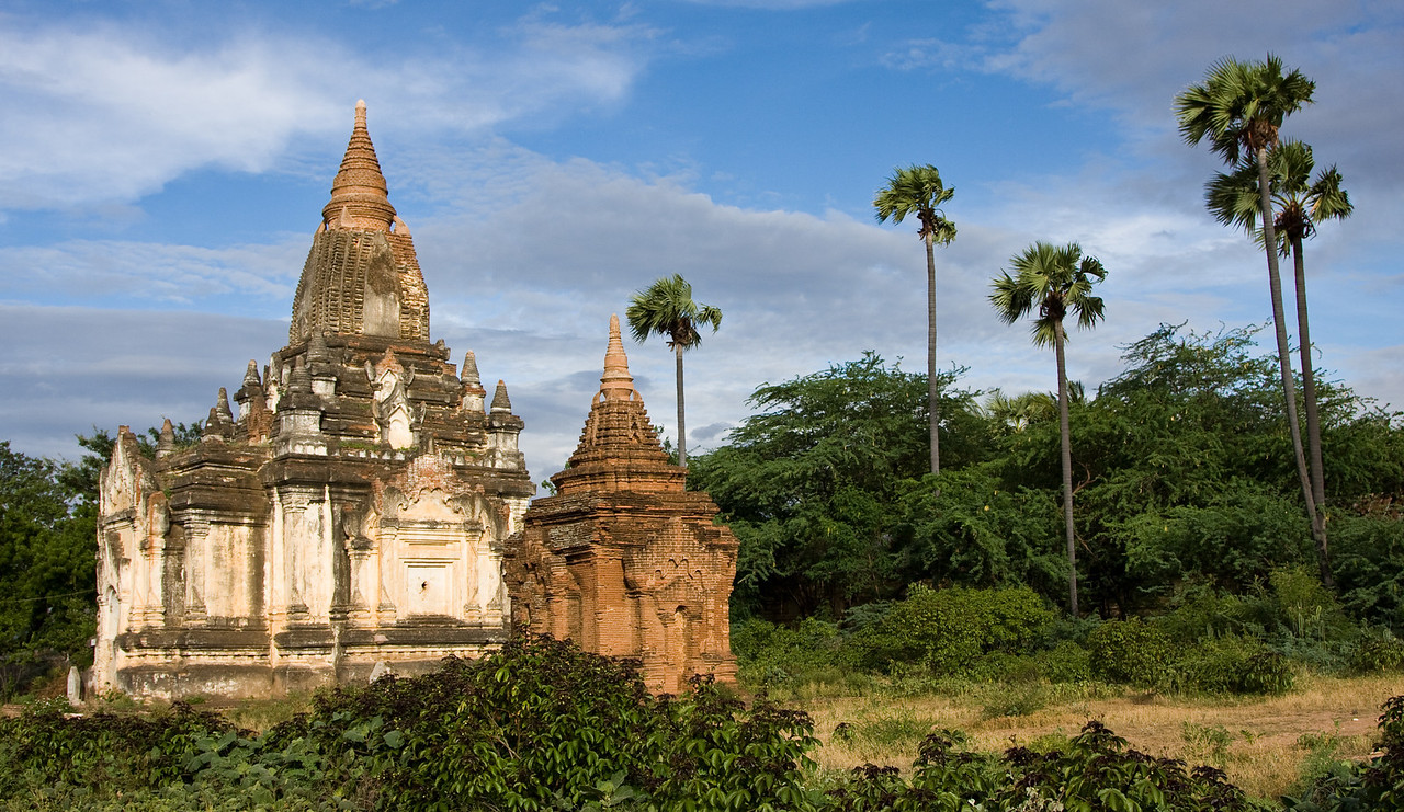 2 Stupa and 5 palms.<br /> <br /> Location: Nyaung U, Myanmar<br /> <br /> Lens used: 24-105mm f4.0 IS