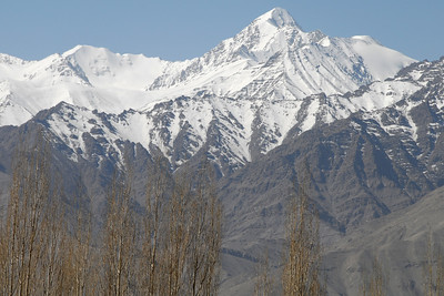 The view from the guesthouse in Leh...