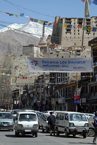 The main drag in Leh...