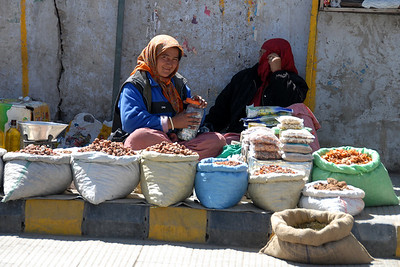 Selling dried fruits and nuts...