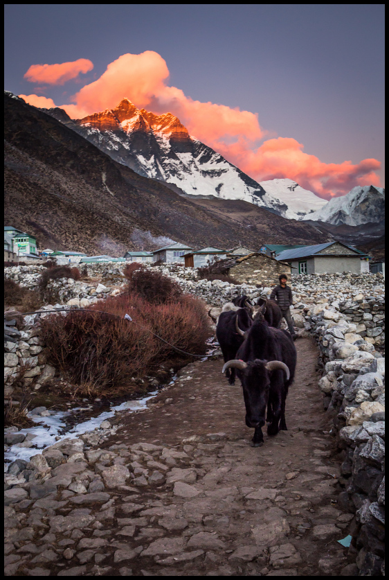 Sunset, Dingboche