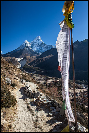 Ama Dablam on the route to Dingboche