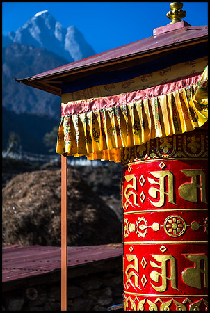 Prayer wheel, Phakding