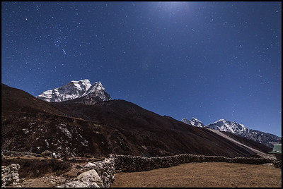 Dingboche at night