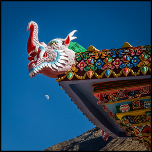 Detail on the entrance to Tengboche Monastery