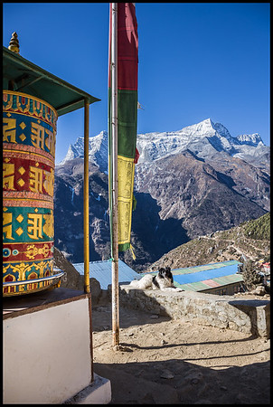Prayer wheel, Namche Bazaar