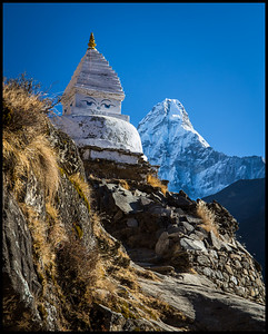 View of Ama Dablam on the route to Dingboche
