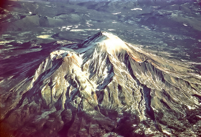 Mount Shasta from Alaska Airlines plane.