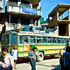 Our bus to Langtang loading at Paknajol in Kathmandu.