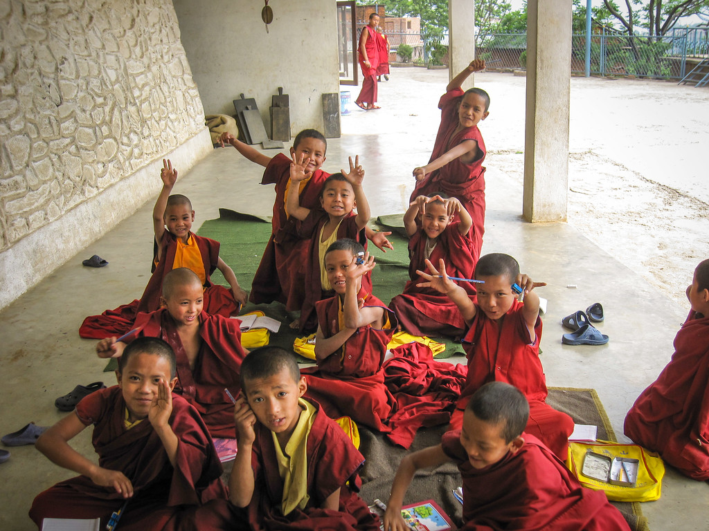 teaching english to monks in nepal