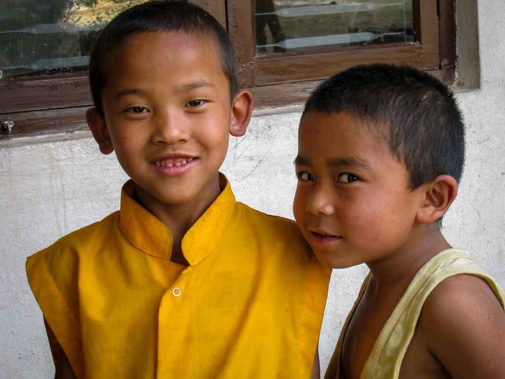 young nepali monks
