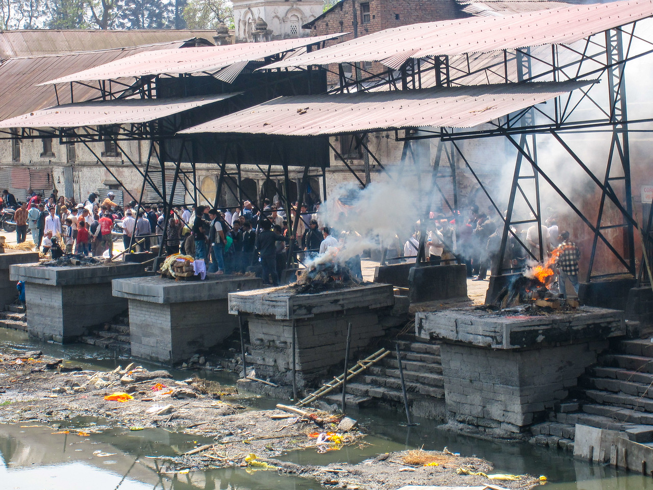 Holy ghats burn at Kathmandu's Pashupatinath Temple