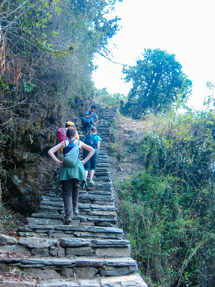 staircases on poon hill trek