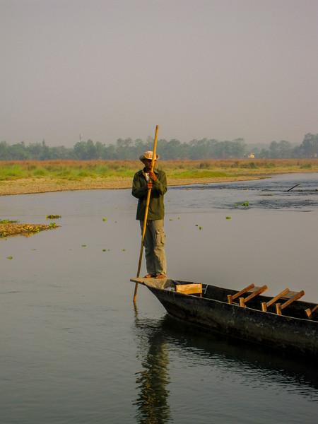 canoe ride at chitwan national park