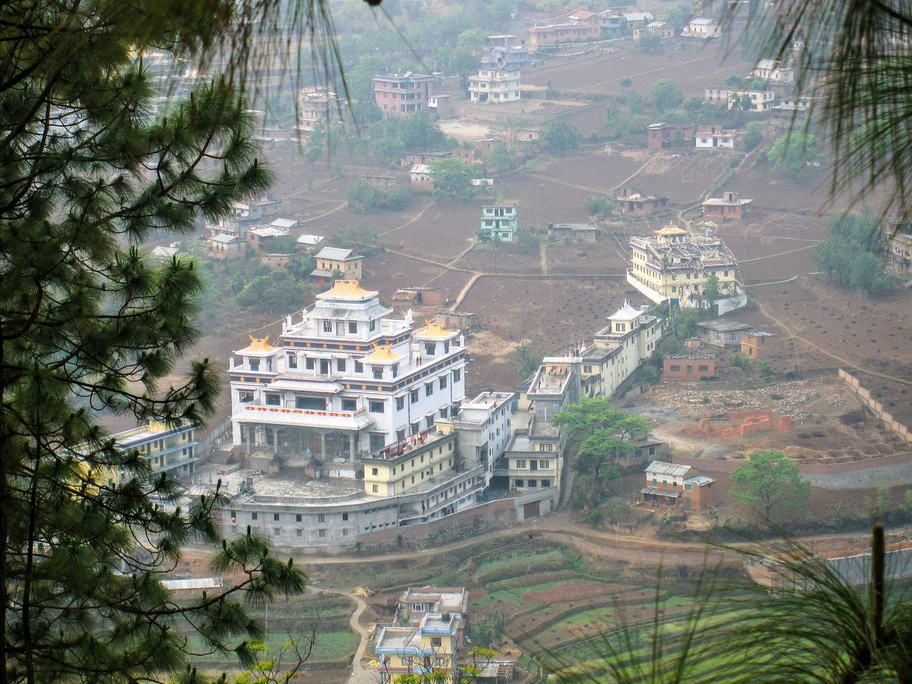 Views of the Kathmandu Valley from the mountain near Pharping, Nepal