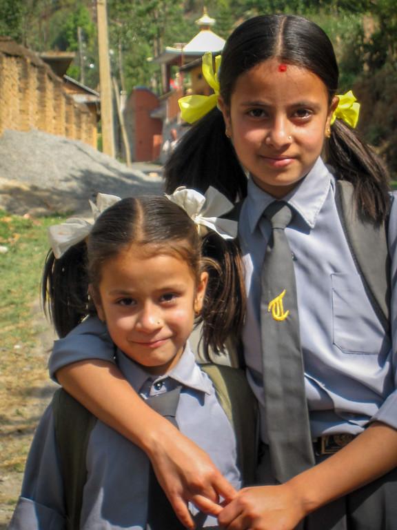 nepali schoolgirls