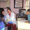 EWN's Female trekking guide training - health checkup for trainee.