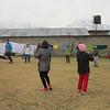 Leadership game in the field - Australian camp, Pothana.