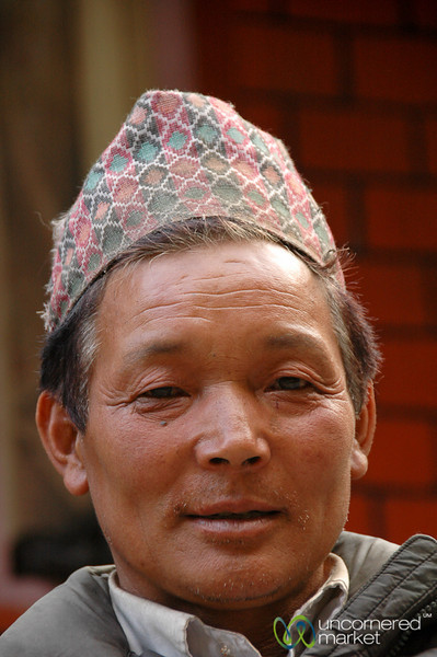 Traditional Newari Hat - Annapurna Circuit, Nepal