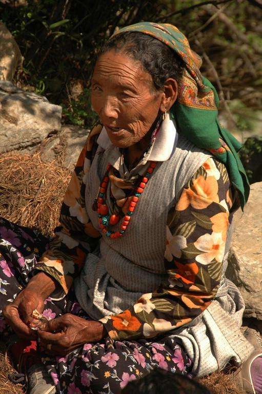 Elderly Nepali Woman - Annapurna, Nepal