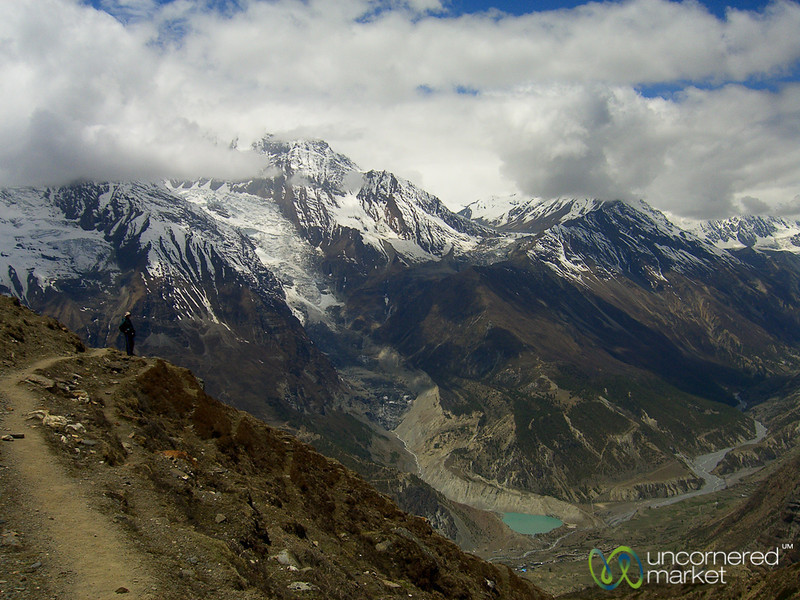 Mountain Vistas on Way to Yak Lake - Annapurna Circuit, Nepal