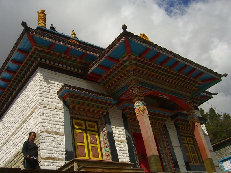Buddhist Temple in Upper Pisang - Annapurna Circuit, Nepal