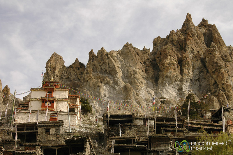 Houses Stacked In the Rocks - Annapurna Circuit, Nepal
