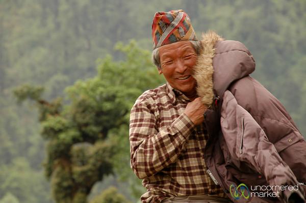 Smiling Along Afternoon Walk - Annapurna Circuit