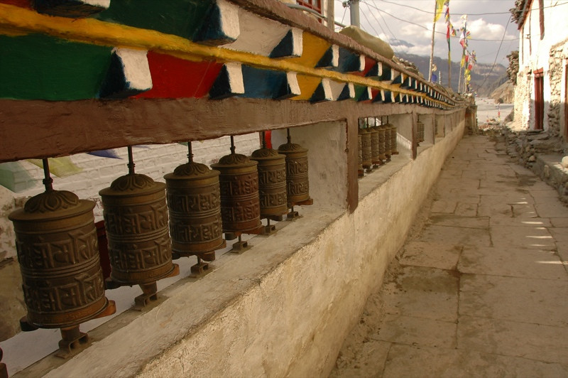 Tibetan Prayer Wheels - Annapurna Circuit, Nepal