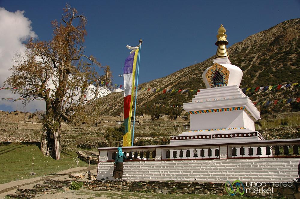 Turning the Prayer Wheels - Annapurna Circuit, Nepal