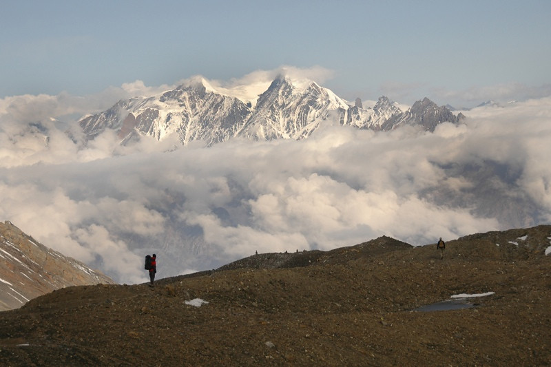 Clouds and Mountain Peaks - Annapurna Circuit, Nepal
