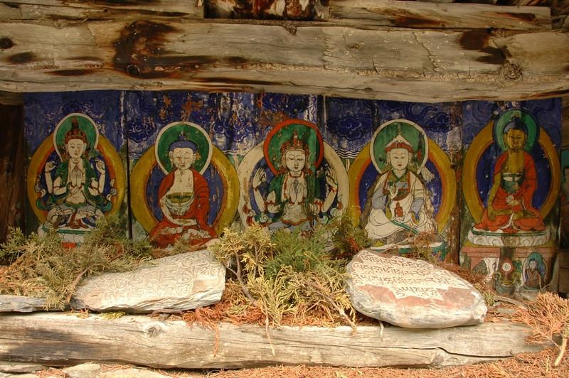 Buddhist Art - Annapurna Circuit, Nepal