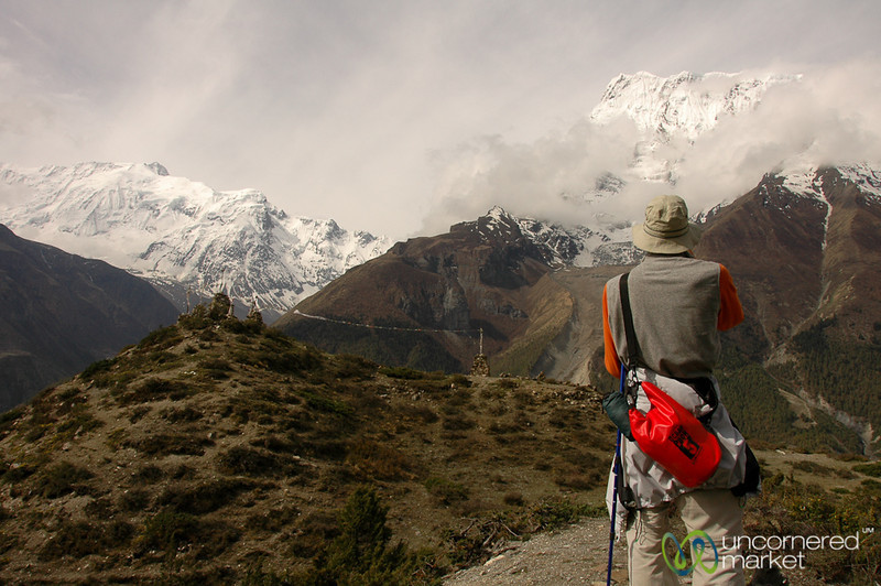 Dan Takes in the Mountain View - Annapurna Circuit, Nepal