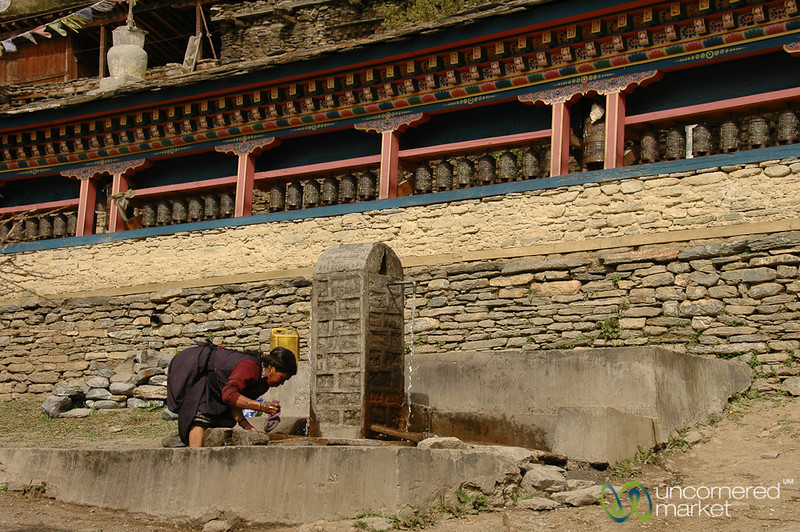 Collecting Water at the Well - Annapurna Circuit, Nepal