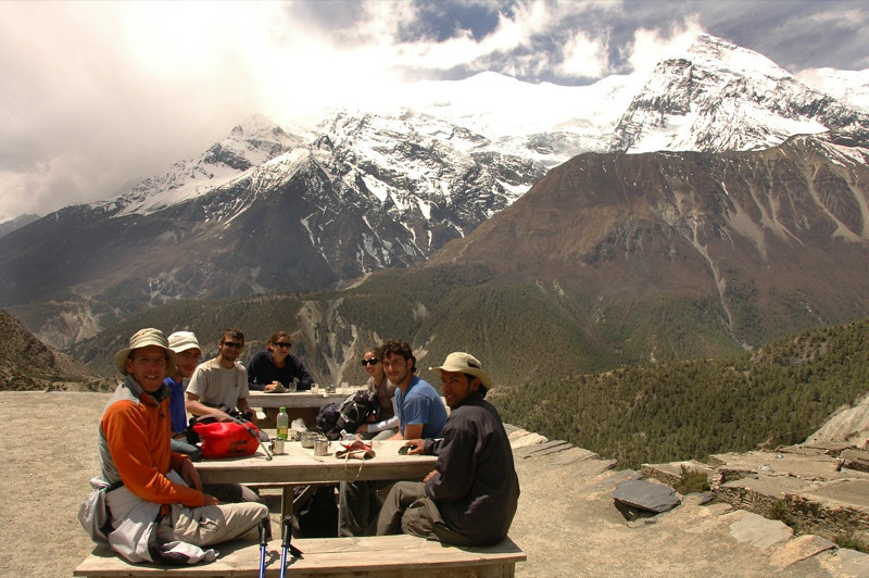 Morning Tea in the Himalayas - Annapurna Circuit, Nepal