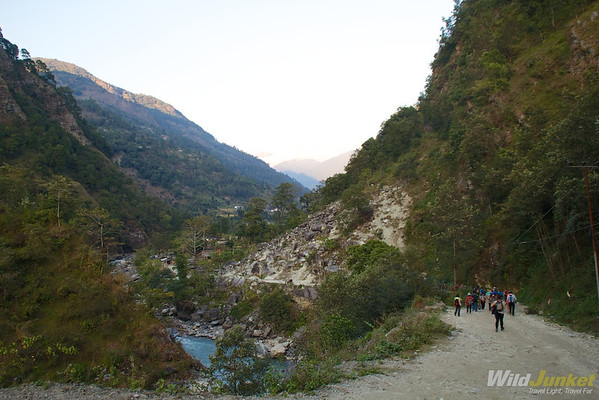 Walking in the foothills of Annapurna