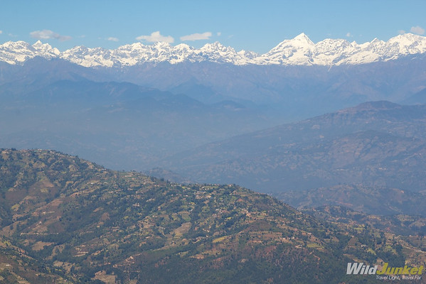 The Himalayan ranges above Kathmandu Valley