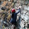 rock climbing during the training in Beni