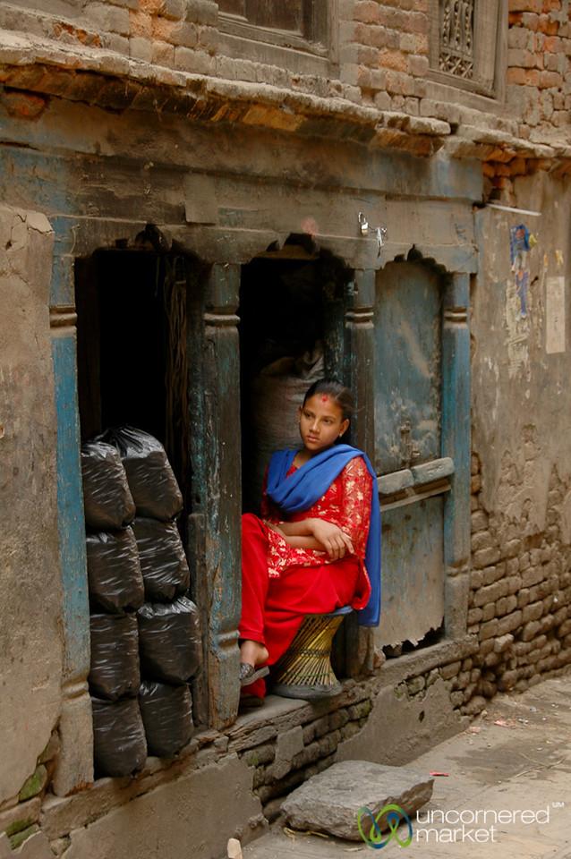 Sitting in a Nook - Kathmandu, Nepal
