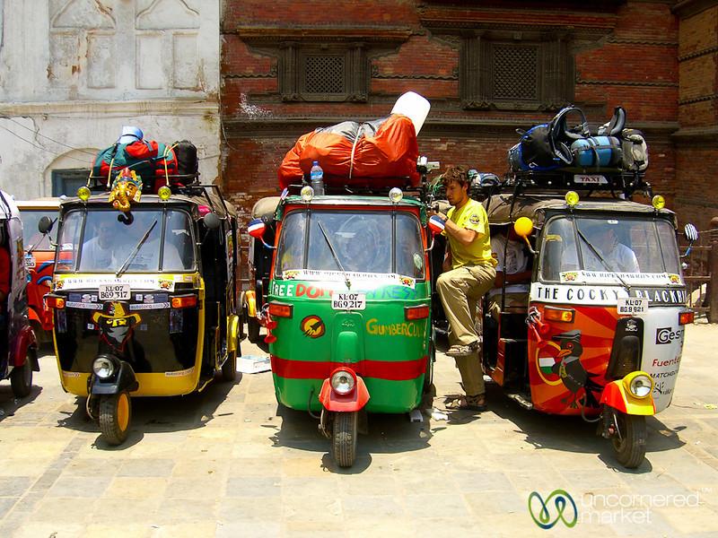 Start of the Ricksaw Run - Kathmandu, Nepal