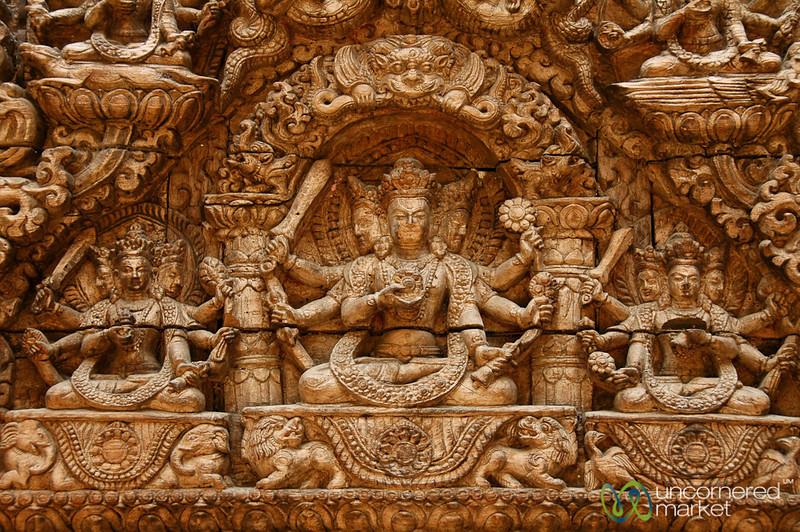 Detailed Religious Engravings - Kathmandu, Nepal