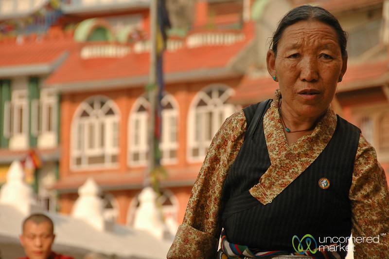 Buddhist Pilgrim - Bodhnath, Nepal