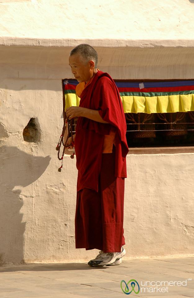 Pilgrim at Bodhnath, Nepal